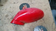 MAZDA MX5 EUNOS (MK2 1998 - 2005) LEFT HAND MIRROR  LHS / NEAR SIDE / RED MANUAL